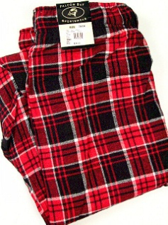 #310721. 8XL BIG. RED Retail $  36.00 Flannel Loungepants by FALCON BAY. FLANNEL PANT Whs A:  4