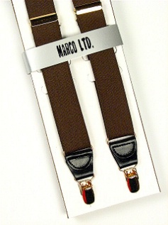 #104315.  . OLIVE Retail $  30.00 Suspenders by MARCO LTD. BOXED CLIP XL Whs A:  2