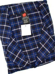 #272979. 4XL BIG. BLUE Retail $  45.00 Pajamas by HANES. FLANNEL PAJAMA SET Whs A: 21