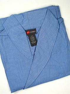 #221126. 10XL BIG. BLUE Retail $  55.00 Robes by HANES. WOVEN SHAWL ROBE Whs A:  5 FW:  1
