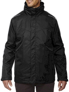 #229908. 5XL BIG. BLACK Retail $ 169.00 Outerwear by NORTH END. 3-IN-1 SYSTEMS JACKET Whs A:  1