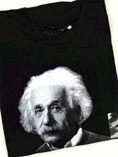 #315087. 4XL BIG. BLACK Retail $  30.00 Short Slv Graphic Tee by FOUNDRY. EINSTEIN WITH STUPID Whs A:  1