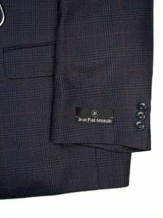 #089812. 52 P-RG. NAVY Retail $ 229.00 Sportcoats by ZEGNORELLI. WINDOWPANE YEAR-ROUND <font face=arial size=2><BR>Special Order Item.</font> <B>Item stocked by Manufacturer.  Allow up to 3 weeks for delivery.</B>