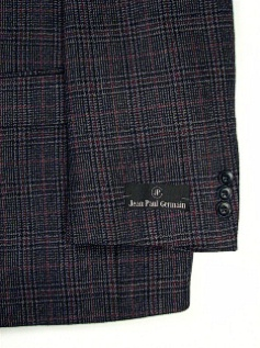 #327628. 52 P-RG. GREY Retail $ 249.00 Sportcoats by ZEGNORELLI. HOUNDSTOOTH <font face=arial size=2><BR>Special Order Item.</font> <B>Item stocked by Manufacturer.  Allow up to 3 weeks for delivery.</B>