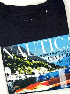 #056007. 2XL TALL. NAVY Retail $  35.00 Short Slv Graphic Tee by NAUTICA. WOODCRAFT CLUB USA Whs:  2,FW:  1,