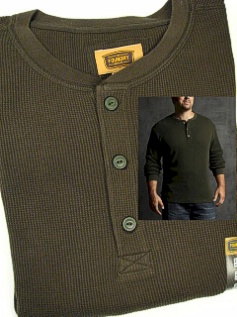 #024301. 2XL TALL. FOREST Retail $  40.00 Long Sleeve by FOUNDRY. THERMAL HENLEY LNGSLV Whs A:  3