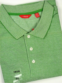 #312365. 4XL BIG. GREEN Retail $  52.00 Short Sleeve by IZOD. SOLID PIQUE Whs A:  1