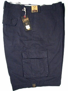 #108531. 52 . NAVY Retail $  58.00 Shorts by ROUNDTREE YORK. UTILITY CARGO SHORT Whs A:  1