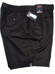 #039127. 50 . BLACK Retail $  58.00 Shorts by ROUNDTREE YORK. SIDE-ELASTIC PLAIN Whs:  1,