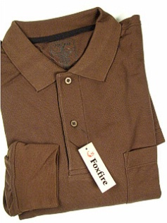 #069001. 2XL TALL. LODEN Retail $  38.00 Long Sleeve by FOXFIRE. POCKET PIQUE SOLID Whs A:  1