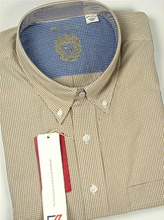 #243661. 2XL TALL. ROPE Retail $ 105.00 Long Sleeve Cotton by CUTTER BUCK. GINGHAM PLAID Whs:  3,