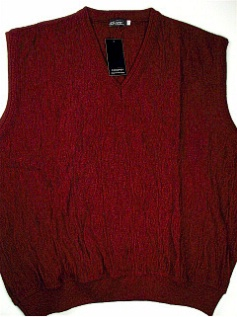 #147028. 3XL BIG. WINE Retail $  69.00 Sweaters by COOPER KNITWEAR. SLEEVELESS CARDIGAN FW:  1,