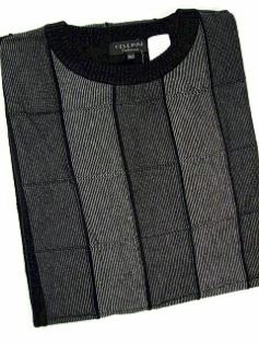 #012867. XL TALL. CHARCOAL Retail $  85.00 Sweaters by CELLINI. CREW LS HEATHER TONES Whs:  1,