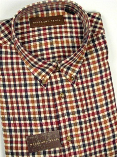 #044167. 4XL BIG. WINE Retail $  48.00 Long Sleeve Flannel by WOOD LAND TRAIL. RUGGED BRUSHED PLAID Whs A:  1