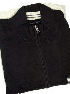 #078630. 4XL BIG. BLACK Retail $  89.50 Long Sleeve by NAUTICA. QTR ZIP BEEFY JERSEY Whs A:  1
