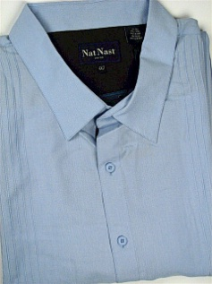 #205324. 4XL TALL. BLUE Retail $  90.00 Short Sleeve Updated by NAT NAST. SILK LYOCELL CAMP Whs A:  1