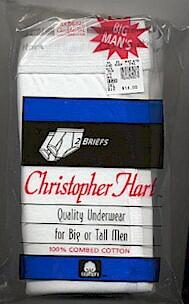 #240987. 3XL BIG. WHITE BIG MAN'S BRIEF Briefs & Boxers by CHRISTOPHER HART. Whs A:  4 FW:  1