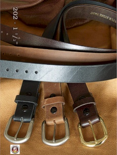 #140283. 74 . BLACK Retail $  37.00 Belts by MARK WOLF. OIL TAN 1-1/2 IN. Whs A:  1
