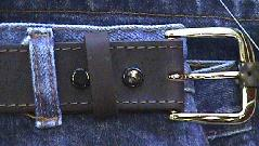 #140221. 76 . BROWN Retail $  37.00 Belts by MARK WOLF. OIL TAN 1-1/2 IN. Whs:  1,
