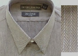 #001465. 18.0 34-35 Big. TAUPE Retail $  46.00 Dress Long Sleeves by INTERNATIONAL VIEW. H'BONE TEXTURE FW:  1,