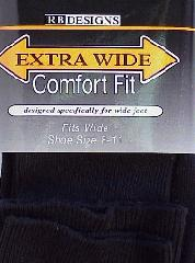 #055534.  . BLACK Retail $   9.00 Regular Sized Socks by EXTRA WIDE SOCK. EX-WIDE REG SZ DRESS Whs A:  4 FW:  1