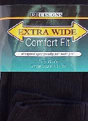 #126142.  . BLACK Retail $   9.50 King Sized Socks by EXTRA WIDE SOCK. EX-WIDE KING DRESS Whs A: 25 FW:  3