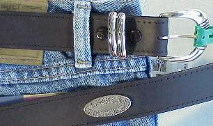 #276119. 46 . BLACK Retail $  35.00 Belts by MARK WOLF. CONCHO OIL TAN Whs A:  1