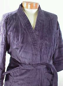 #321600. 6XL BIG. NAVY TERRY SOLID VELOUR Robes by STATE-O-MAINE. Whs A:  7 FW:  1